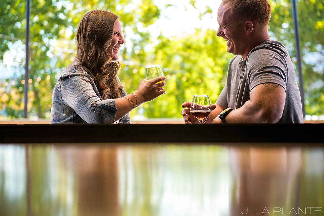 Brewery engagement session | Boulder engagement photographers | Sanitas Brewery engagement | J. La Plante Photo