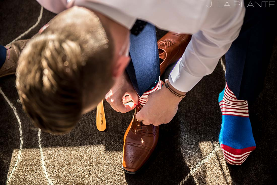J. La Plante Photo | Denver Wedding Photographer | Grand Hyatt Wedding | Groom getting ready