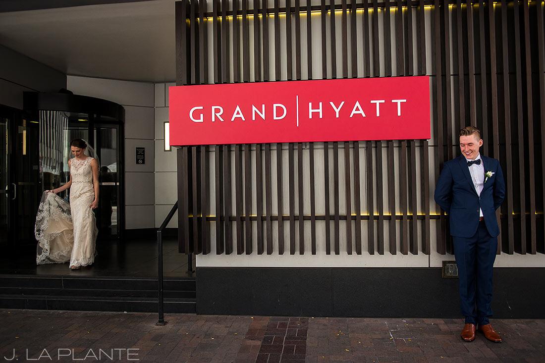 J. La Plante Photo | Denver Wedding Photographer | Grand Hyatt Wedding | First look