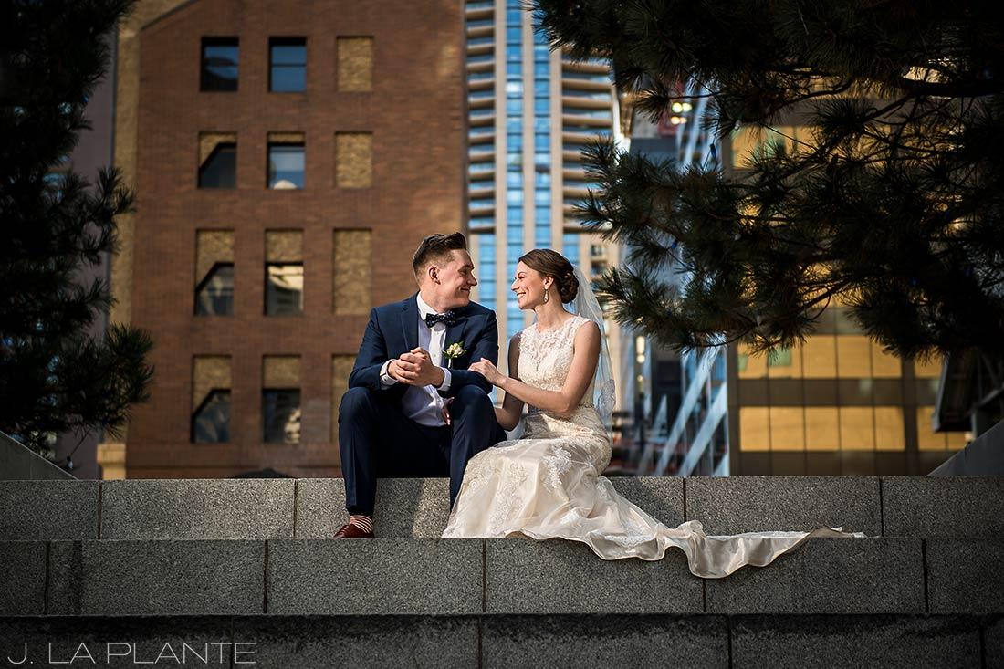 J. La Plante Photo | Denver Wedding Photographer | Grand Hyatt Wedding | Bride and groom in city