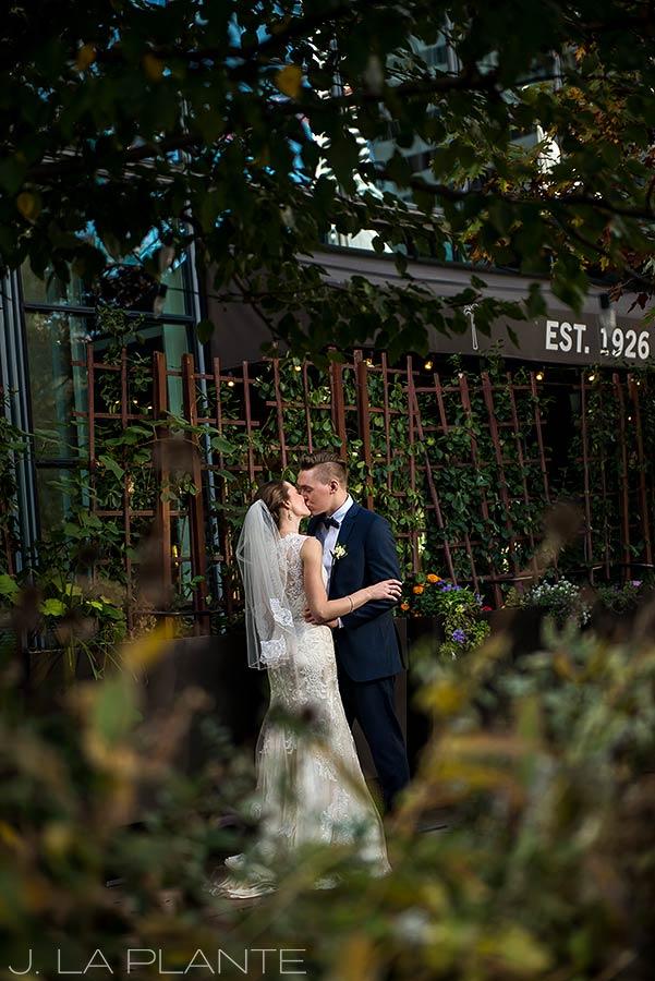 J. La Plante Photo | Denver Wedding Photographer | Grand Hyatt Wedding | Bride and groom kissing
