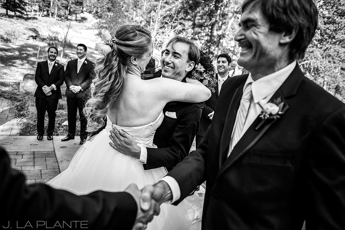 Wedding ceremony | Fall wedding at Della Terra | Estes Park wedding photographers | J. La Plante Photo
