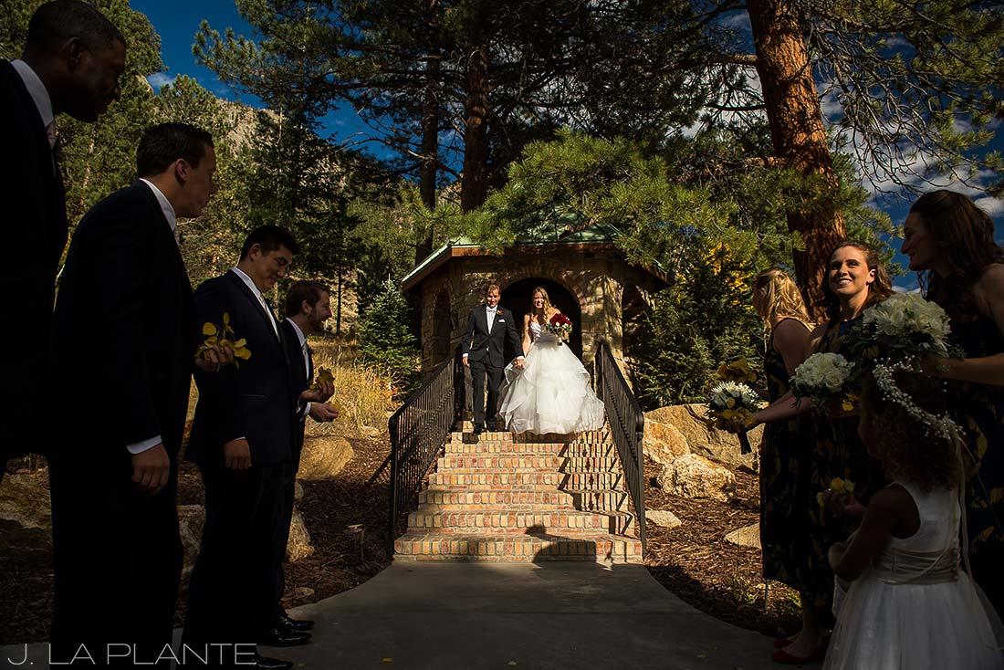 Aspen wedding sendoff | Fall wedding at Della Terra | Estes Park wedding photographers | J. La Plante Photo