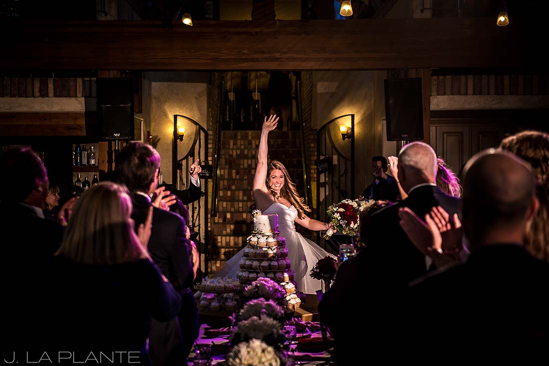 Bride and groom announcement | Fall wedding at Della Terra | Estes Park wedding photographers | J. La Plante Photo