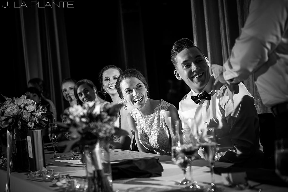 J. La Plante Photo | Denver Wedding Photographer | Grand Hyatt Wedding | Father of the Groom toasting