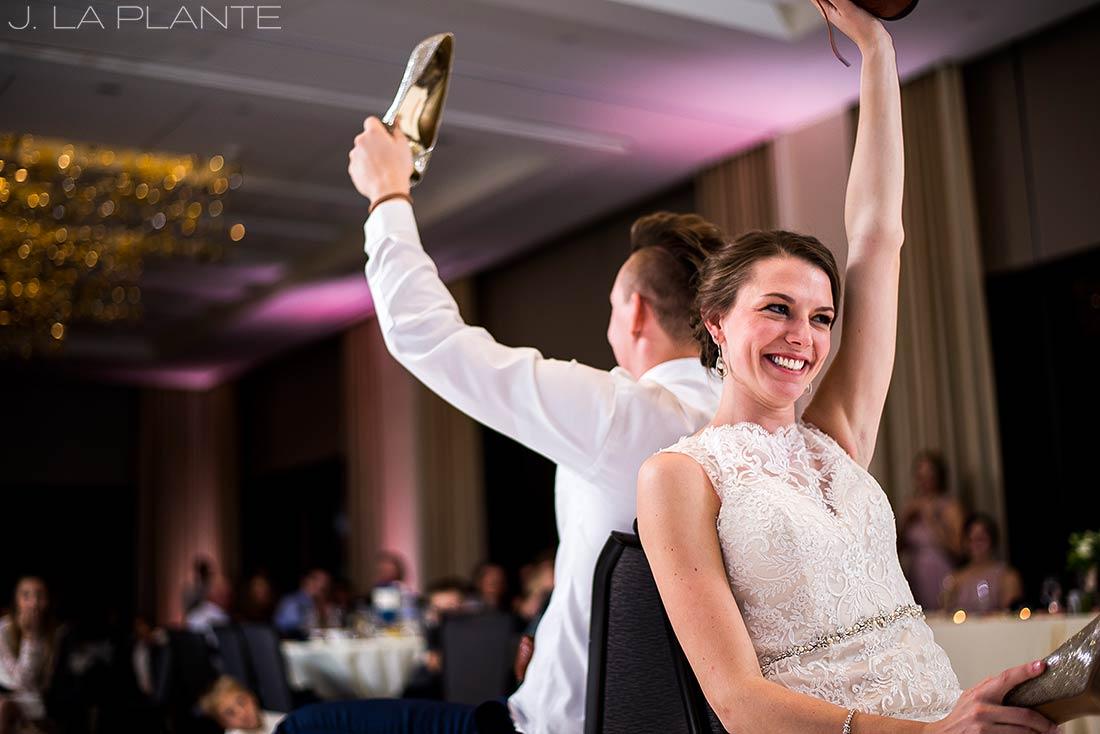 J. La Plante Photo | Denver Wedding Photographer | Grand Hyatt Wedding | Shoe game