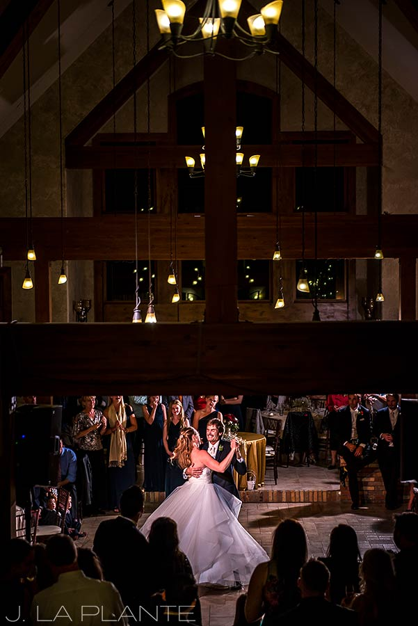 Father of the bride dance | Fall wedding at Della Terra | Estes Park wedding photographers | J. La Plante Photo