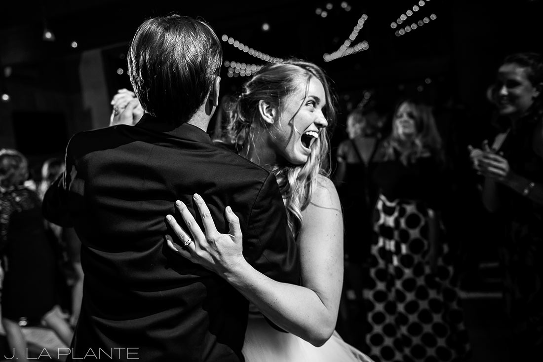 First dance | Fall wedding at Della Terra | Estes Park wedding photographers | J. La Plante Photo