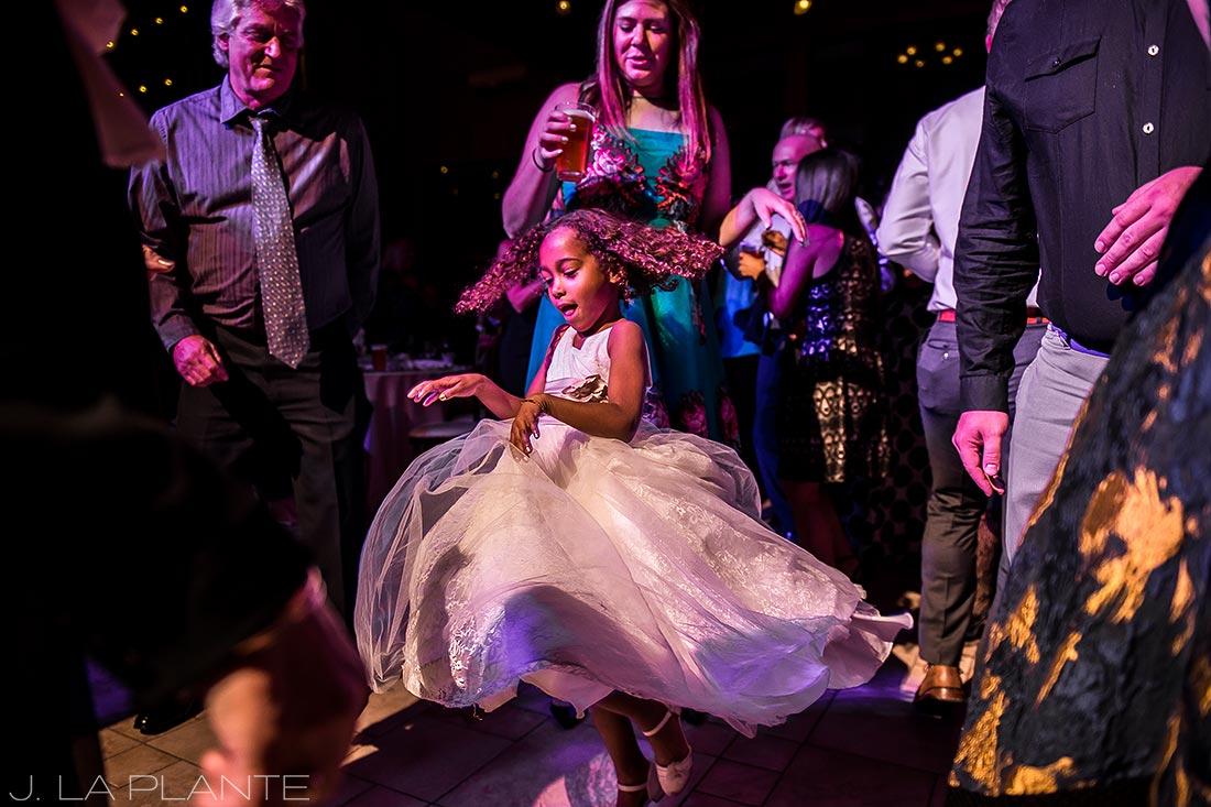 Wedding dance party | Fall wedding at Della Terra | Estes Park wedding photographers | J. La Plante Photo
