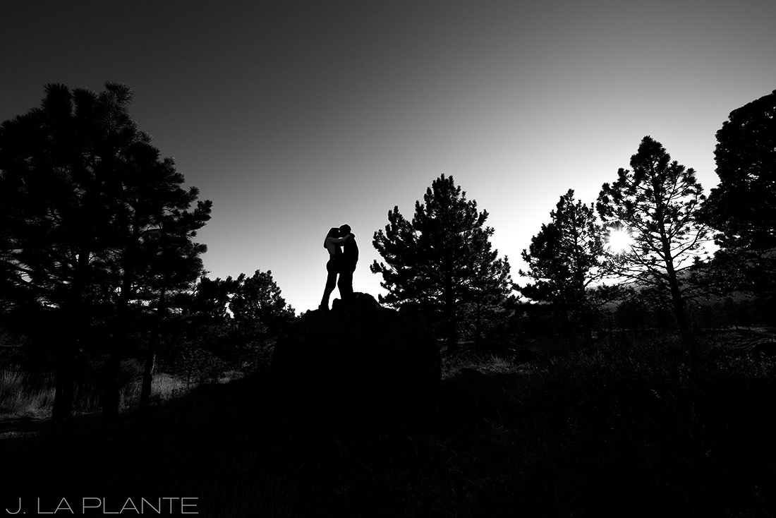 silhouettes of bride and groom to be