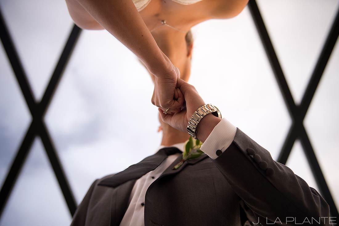 J. La Plante Photo | Denver Wedding Photographers | Mile High Station Wedding | Bride and Groom Kiss