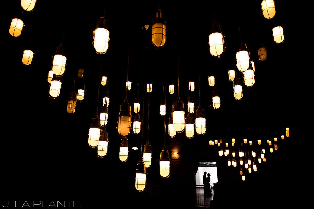 J. La Plante Photo | Denver Wedding Photographers | Mile High Station Wedding | Bride and Groom Silhouette