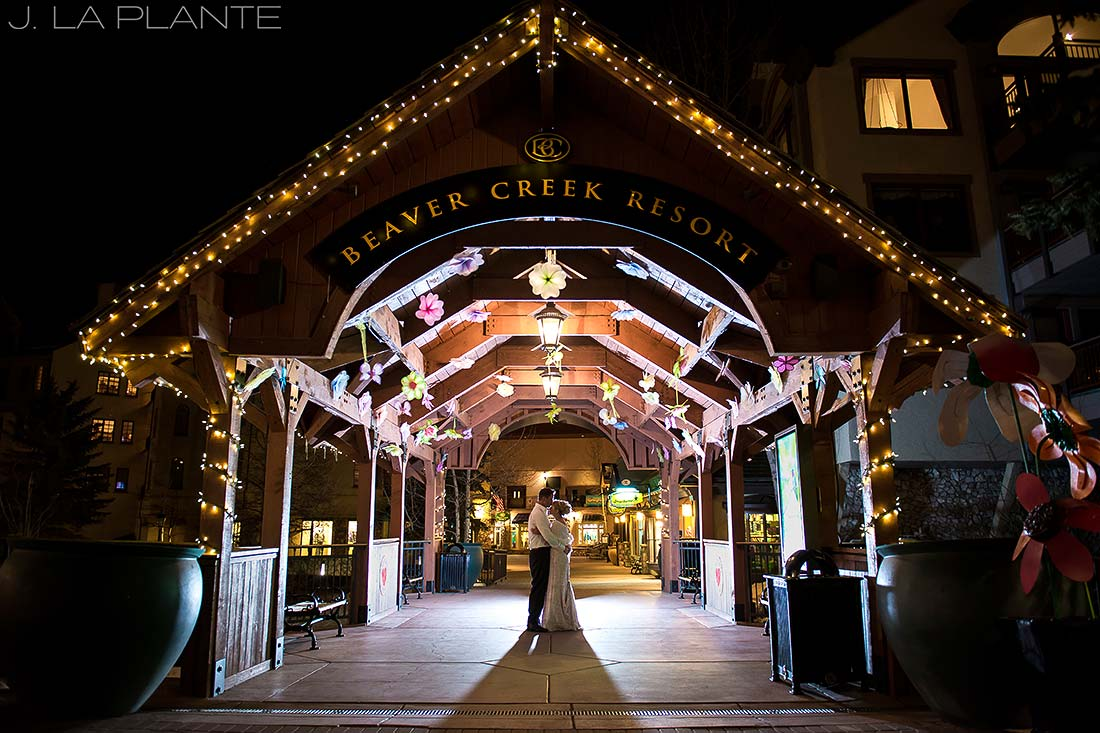 J. La Plante Photo | Beaver Creek Wedding Photographers | Beaver Creek Lodge Wedding | Nighttime Wedding Portrait