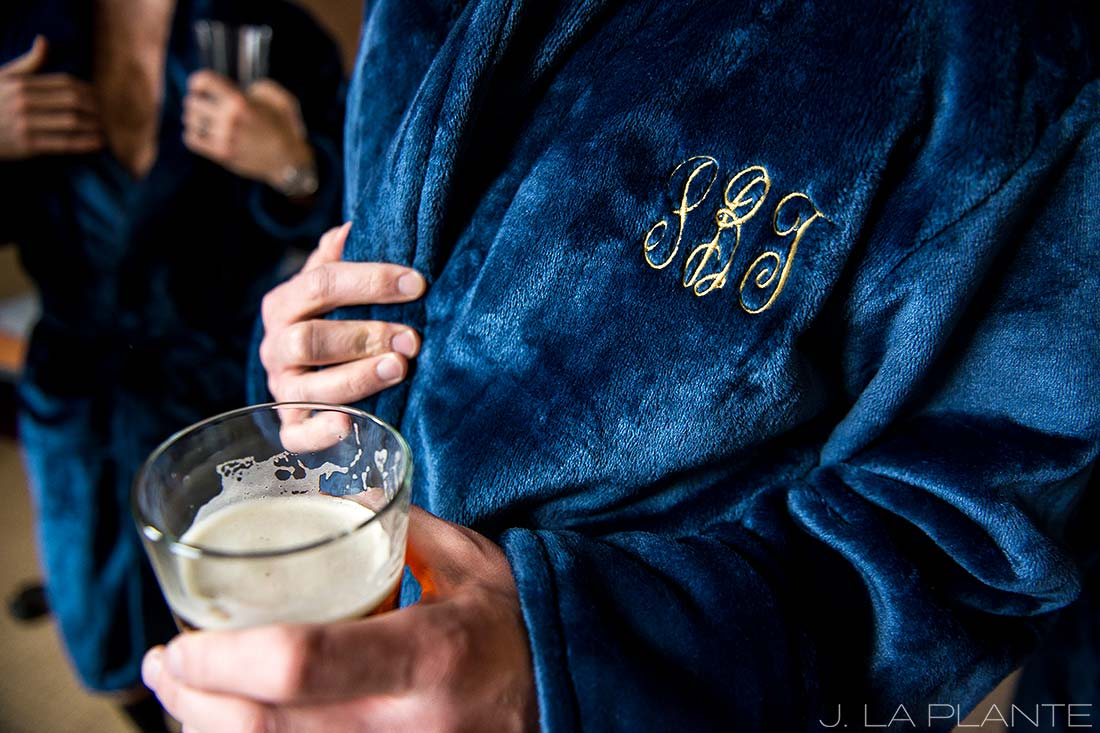 J. La Plante Photo | Denver Wedding Photographers | University of Denver Wedding | Groom Drinking Beer