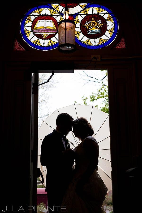 J. La Plante Photo | Denver Wedding Photographers | University of Denver Wedding | Bride and Groom Silhouette