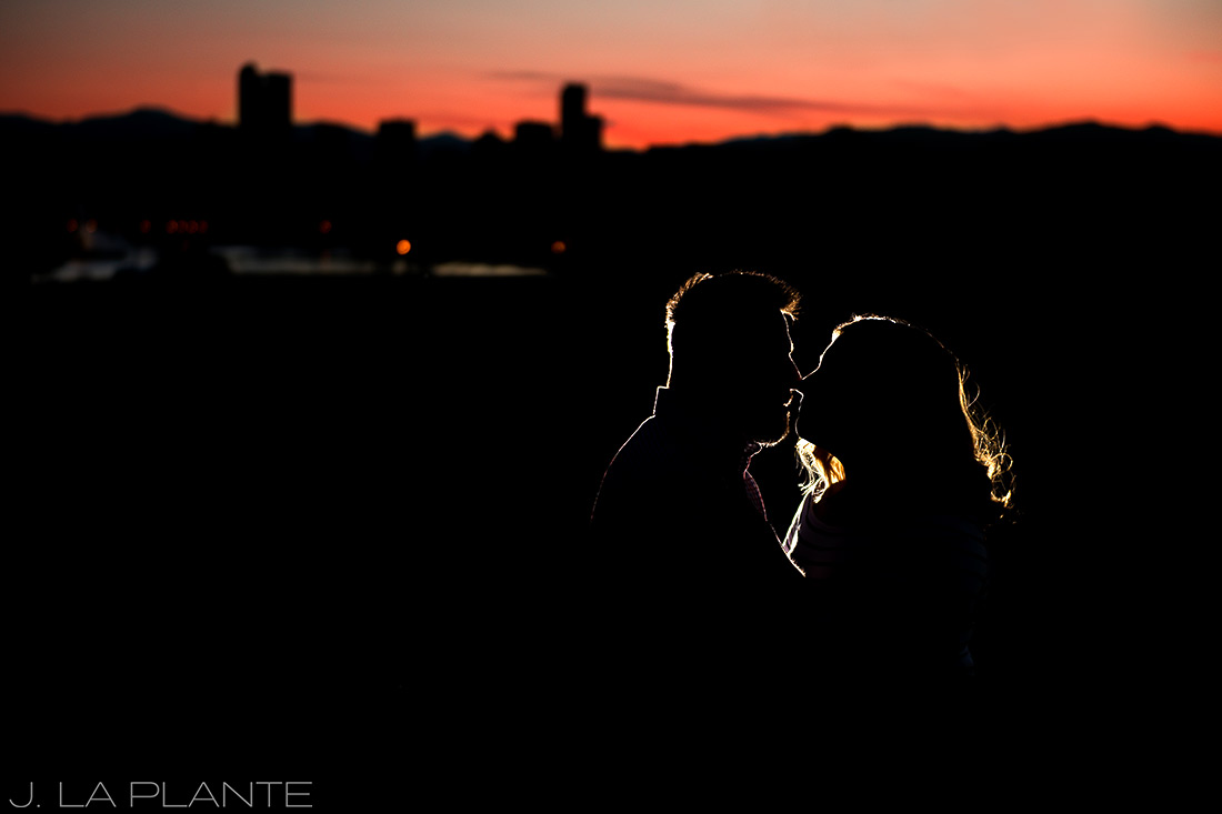 J. La Plante Photo | Denver Wedding Photographers | City Park Denver Engagement | Sunset Engagement Photo