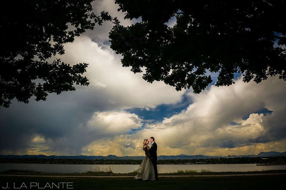 J. La Plante Photo | Denver Wedding Photographers | Chatfield Botanic Gardens Wedding | Bride and Groom Sunset Portrait