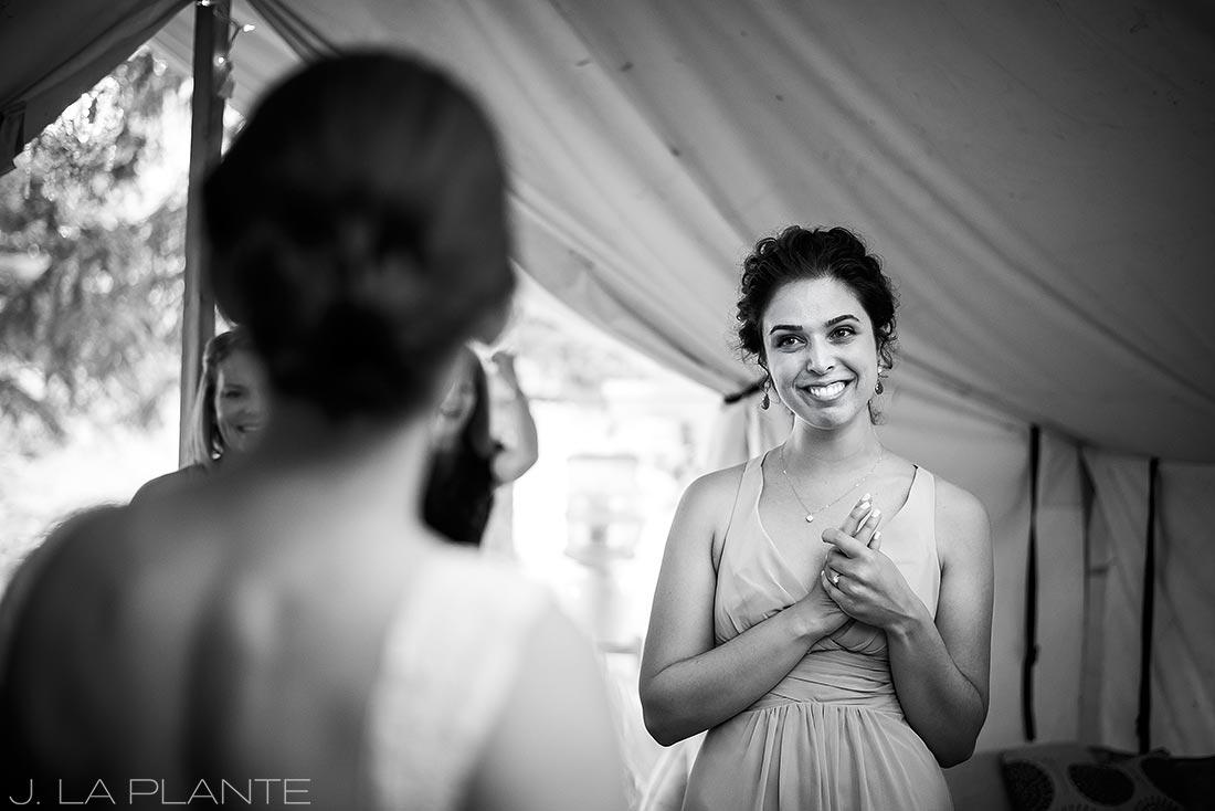 J. La Plante Photo | Colorado Wedding Photographers | River Bend Wedding | Bride with Maid of Honor