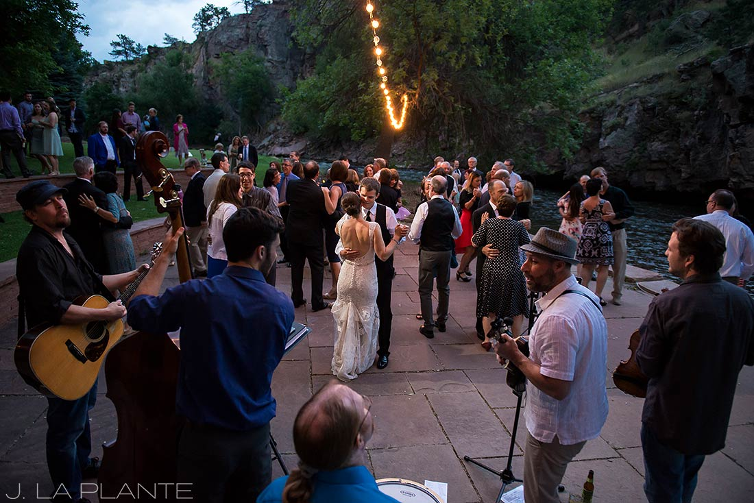 J. La Plante Photo | Colorado Wedding Photographers | River Bend Wedding | First Dance and Man and Wife