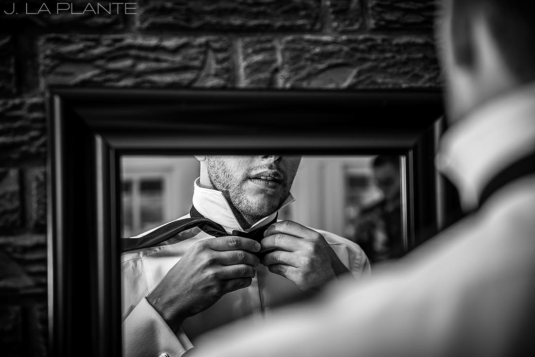 J. LaPlante Photo | Boulder Wedding Photographers | Wedgewood on Boulder Creek Wedding | Groom Getting Ready