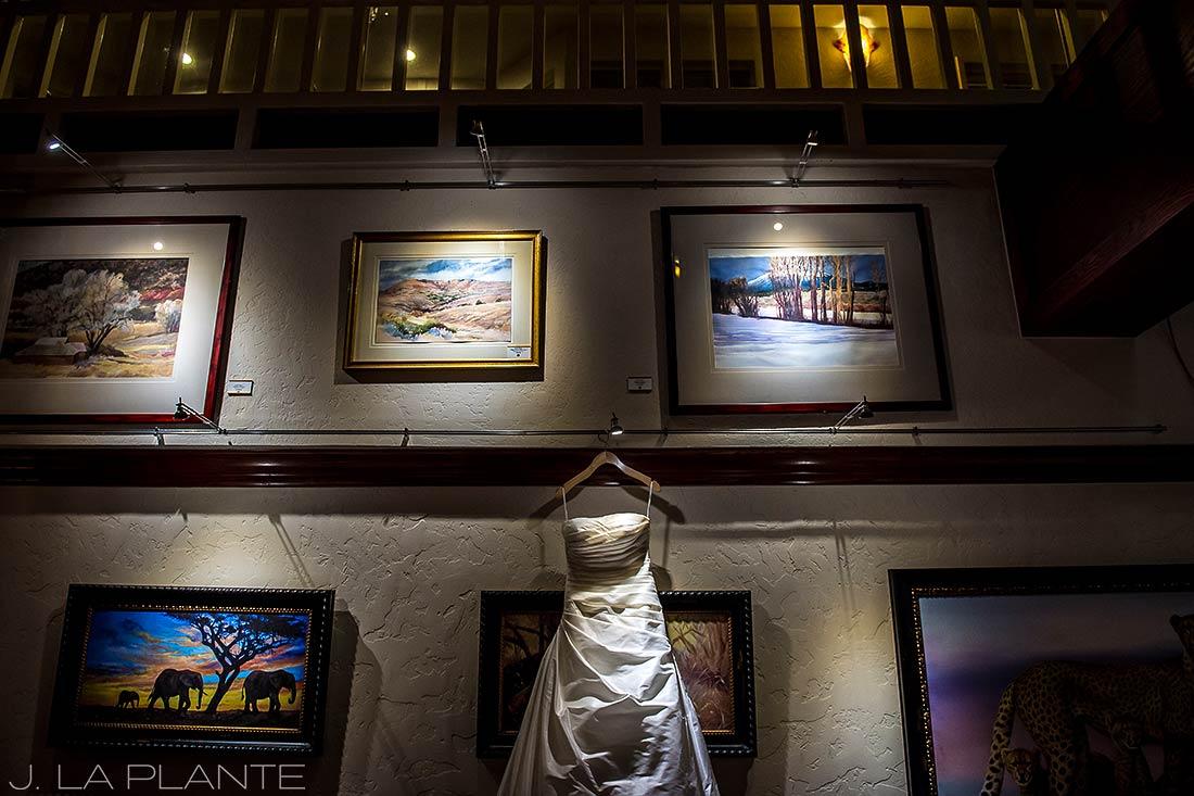J. LaPlante Photo | Beaver Creek Wedding Photographers | Beaver Creek Wedding | Wedding Dress Detail Photo