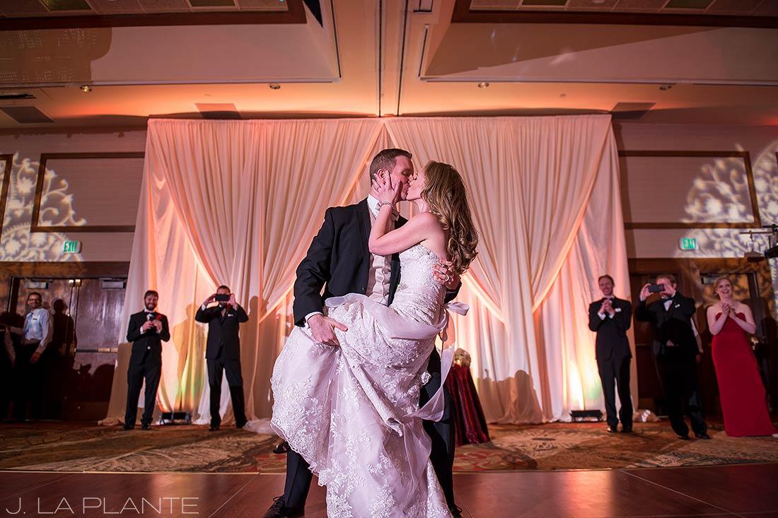 J. LaPlante Photo | Colorado Springs Wedding Photographers | Cheyenne Mountain Resort Wedding | Bride and Groom First Dance