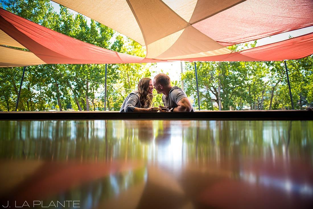 J. LaPlante Photo | Boulder Wedding Photographers | Sanitas Brewing Boulder Engagement | Brewery Engagement Shoot