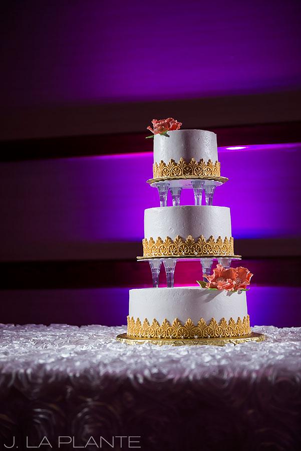 J. LaPlante Photo | Colorado Springs Wedding Photographers | Cheyenne Mountain Resort Wedding | Wedding Cake Detail Photo