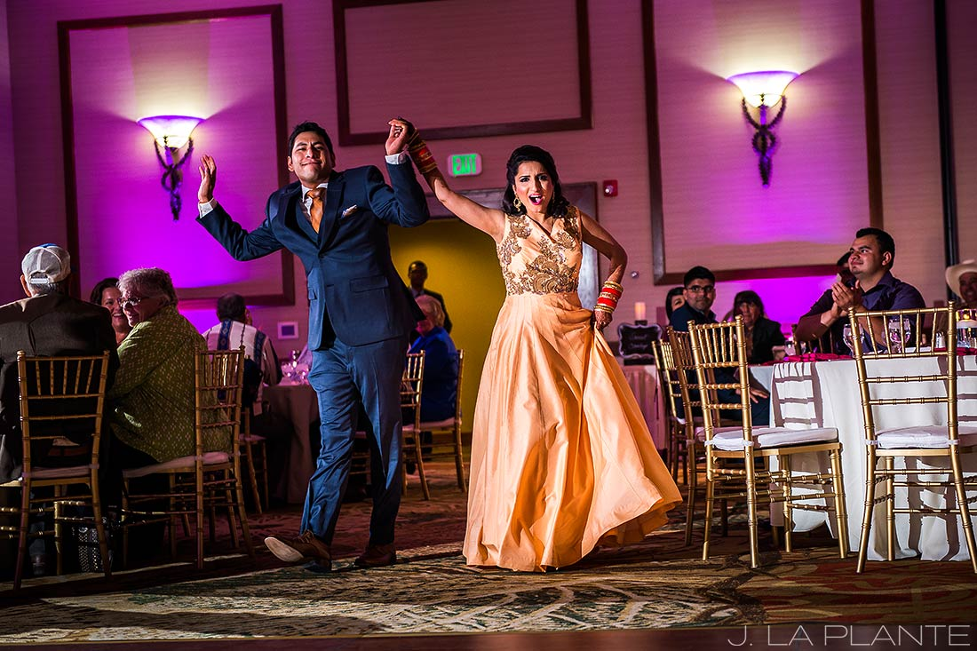 J. LaPlante Photo | Colorado Springs Wedding Photographers | Cheyenne Mountain Resort Wedding | Bride and Groom Entrance