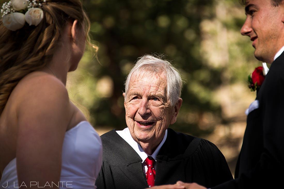 J. LaPlante Photo | Estes Park Wedding Photographers | Della Terra Wedding | Grandfather Officiant