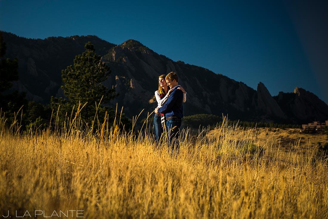 J. LaPlante Photo | Boulder Wedding Photographers | Shanahan Trail Engagement | Golden Hour Engagement Photo