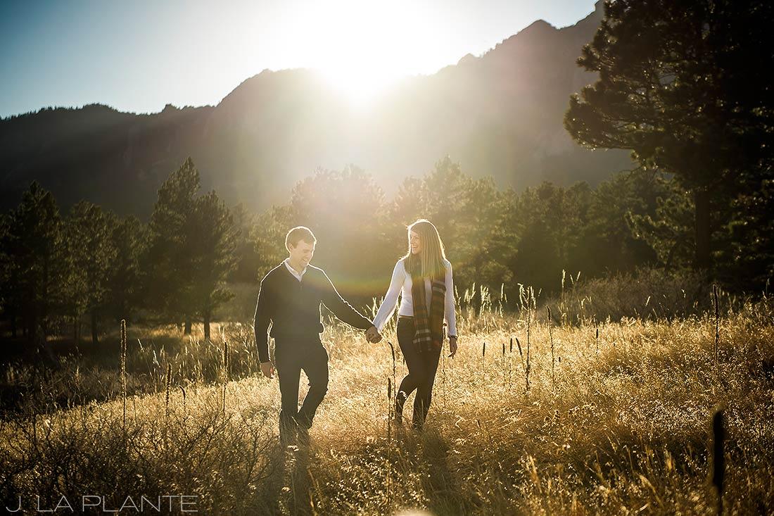 J. LaPlante Photo | Boulder Wedding Photographers | Shanahan Trail Engagement | Sunset Engagement Photo
