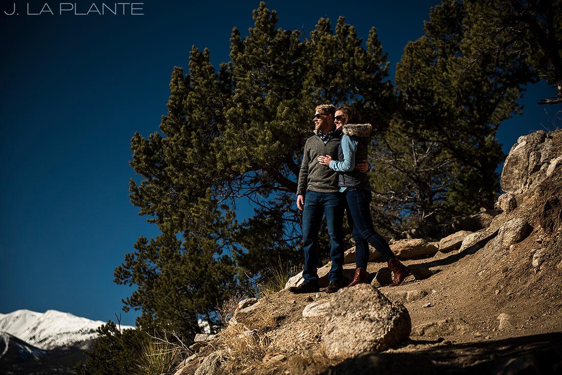 J. La Plante Photo   Colorado Wedding Photographer   Buena Vista Colorado Engagement   Bride and Groom Portrait Mount Yale