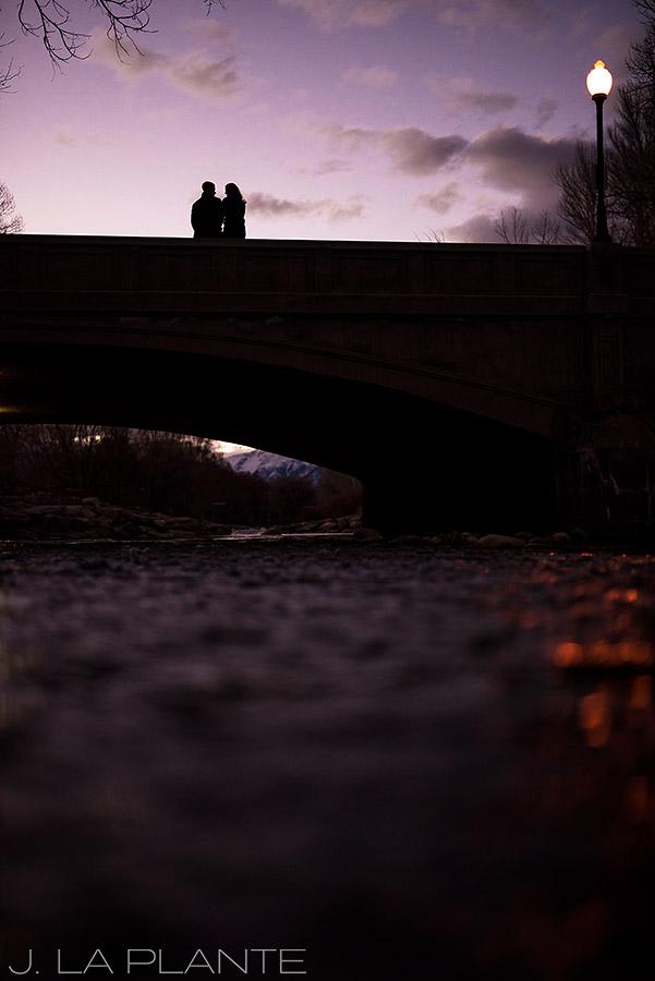 J. La Plante Photo   Colorado Wedding Photographer   Salida Colorado Engagement   Bride and Groom on Bridge