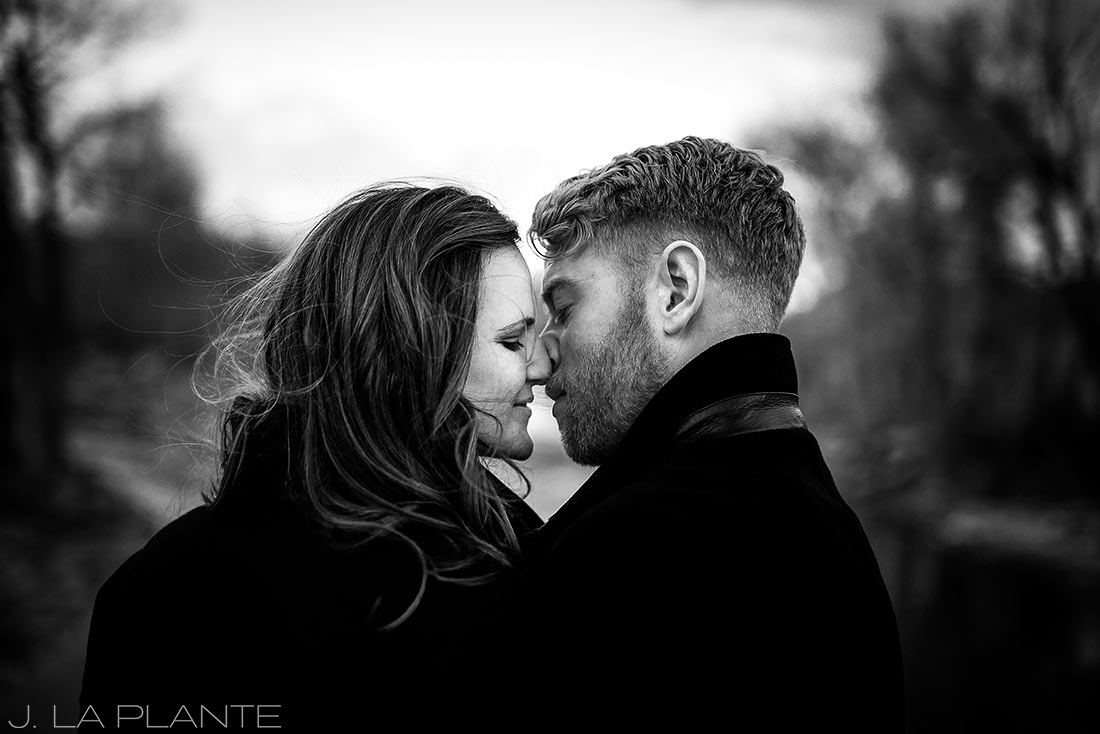 J. La Plante Photo   Colorado Wedding Photographer   Salida Colorado Engagement   Black and White Engagement Portrait