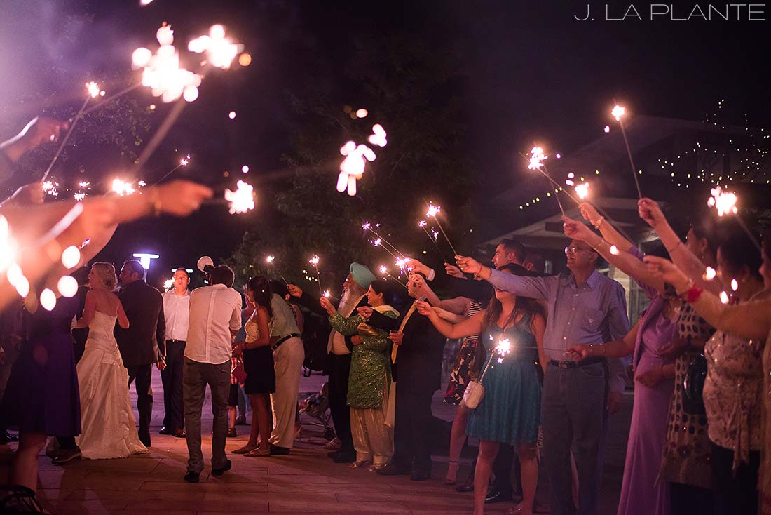 J. La Plante Photo | Colorado Wedding Photographer | Denver Wedding Photography | Wildlife Experience Wedding | Sparkler Send Off