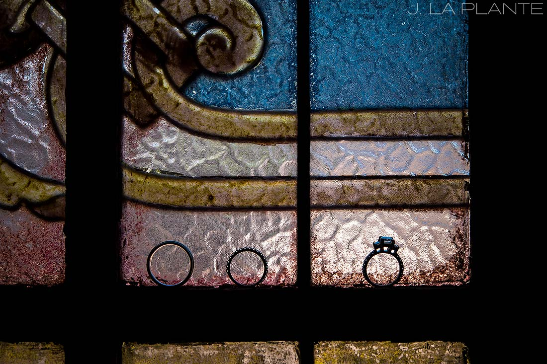 Wedding rings stained glass | Race & Religious Wedding | New Orleans Destination Wedding Photography | J. La Plante Photo