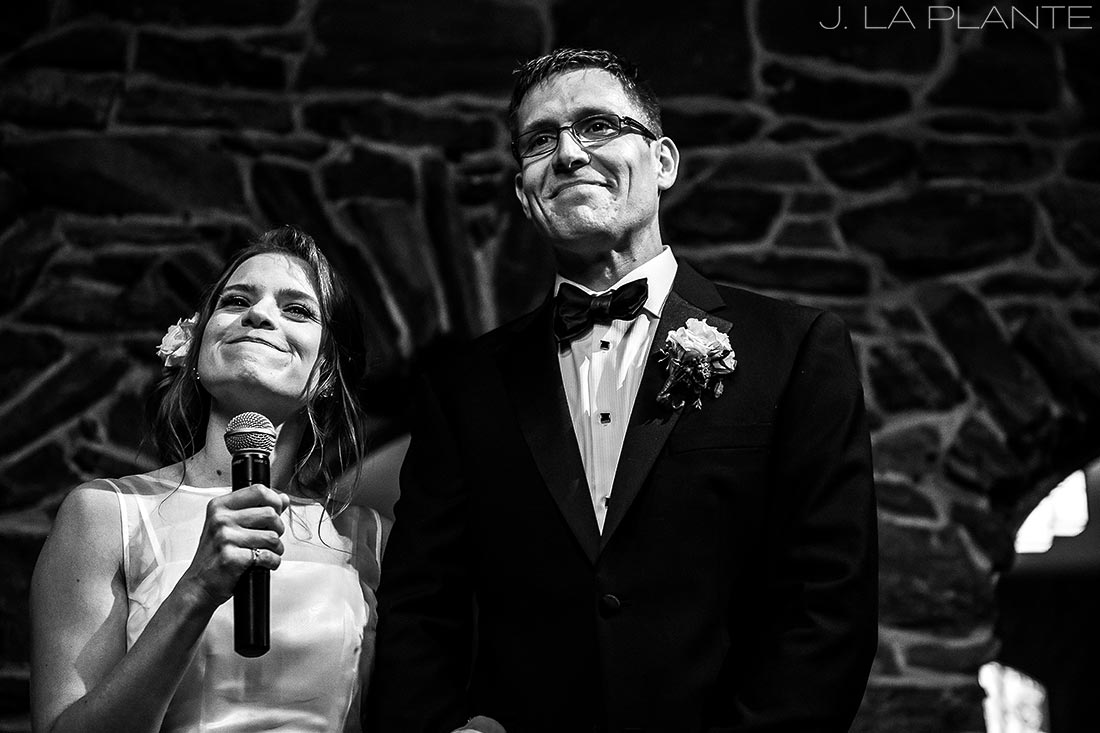 Bride and groom toast | Chief Hosa Lodge wedding | J. La Plante Photo | Denver Wedding Photographers