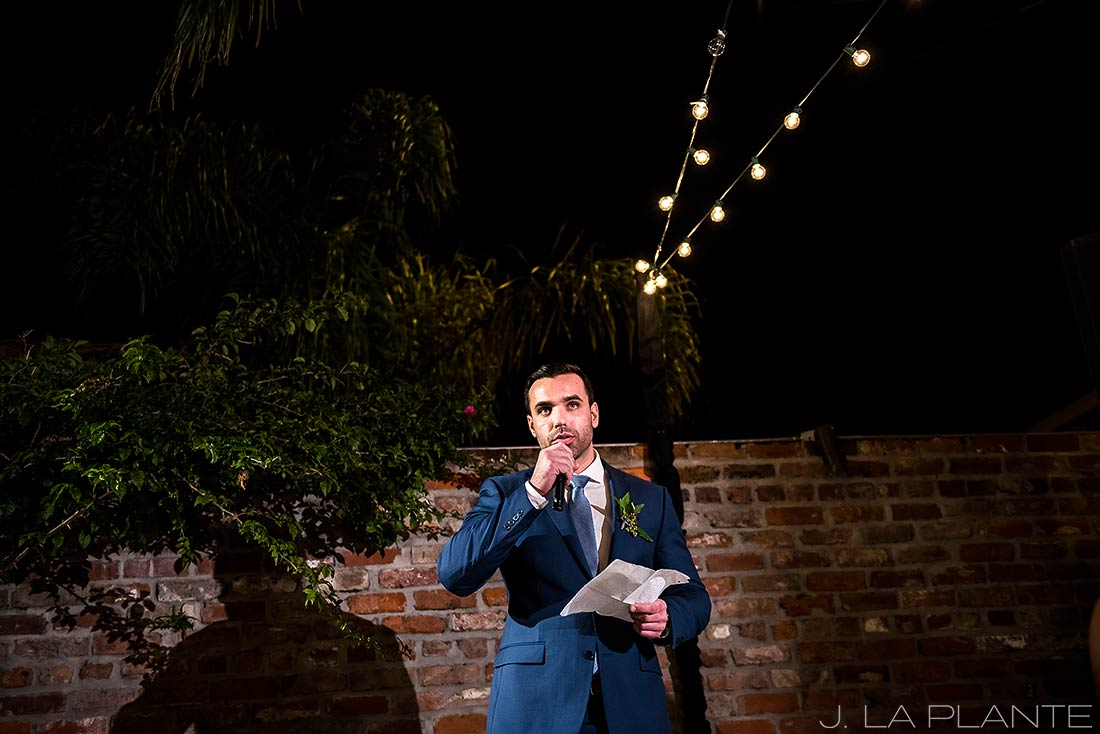 Best man toast | Race & Religious Wedding | New Orleans Destination Wedding Photography | J. La Plante Photo