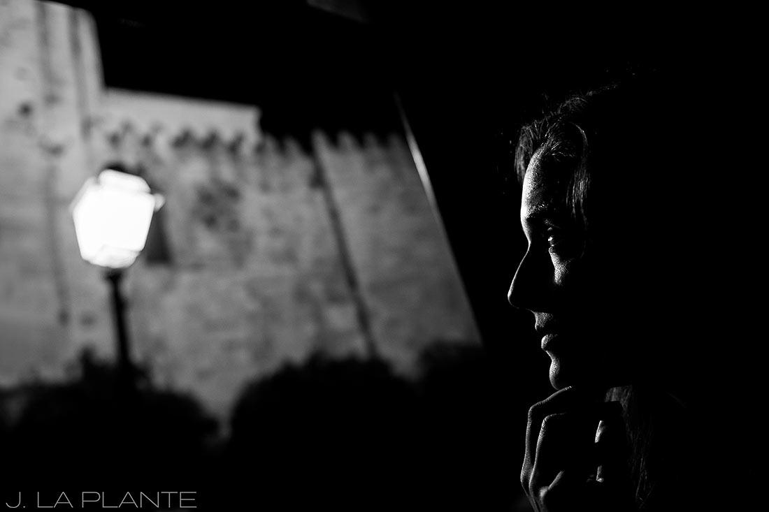 black and white portrait in lisbon portugal