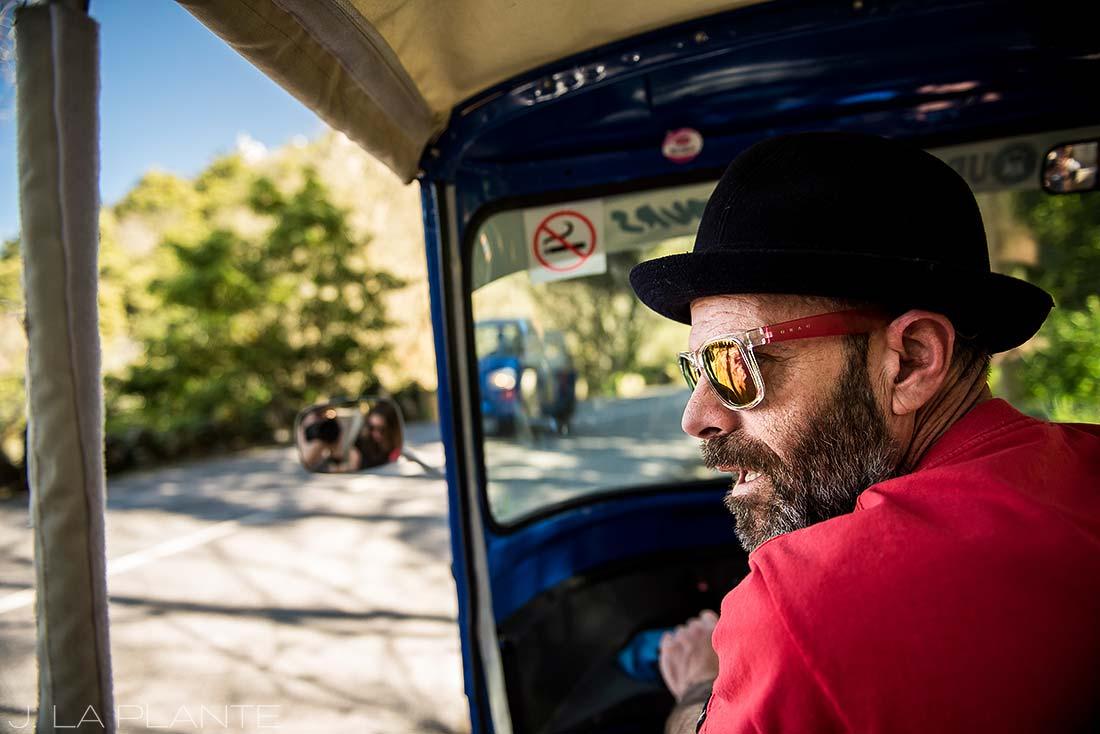 riding a tuk tuk in sintra portugal