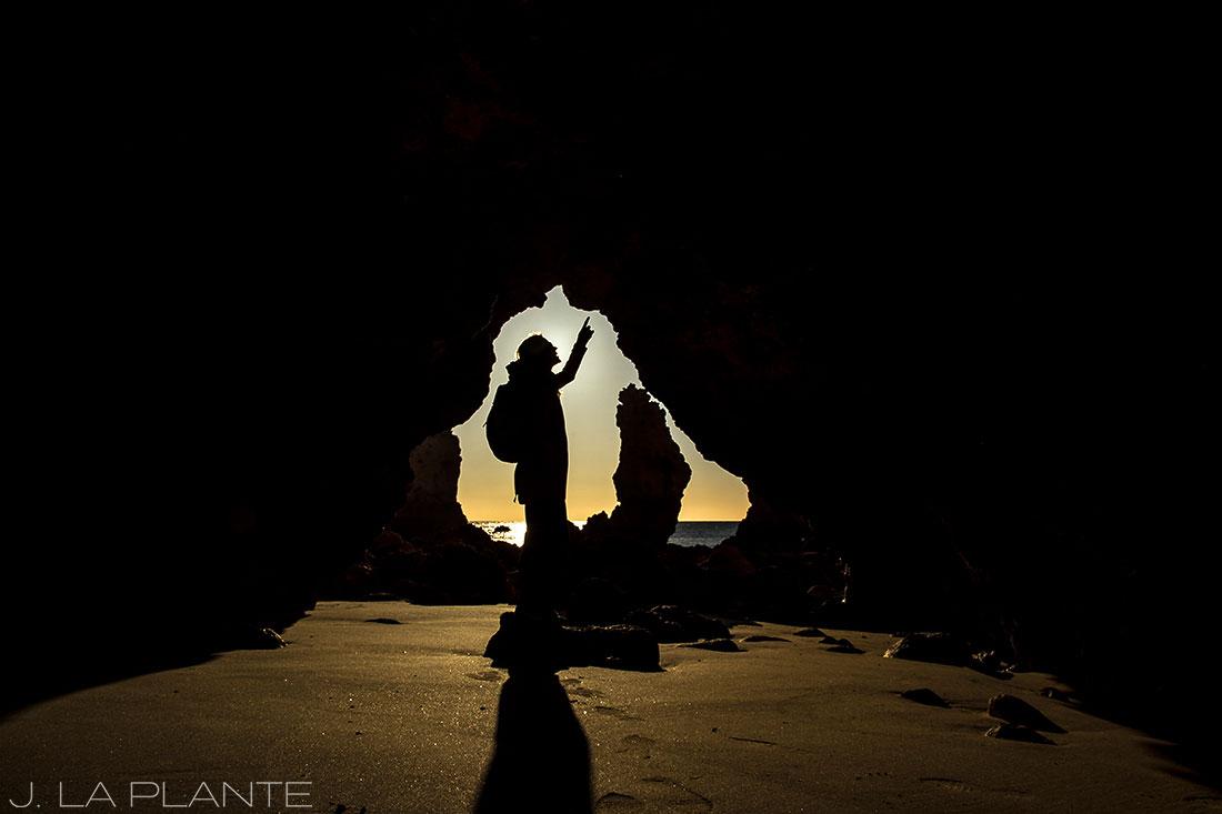 silhouette photo in the algarve portugal