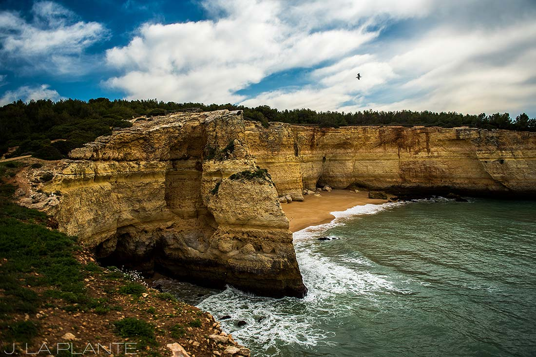 walking the beaches of the algarve portugal