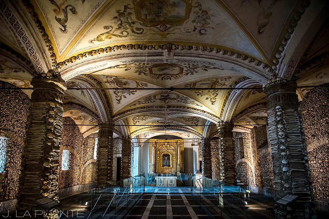 bone cathedral in Evora Portugal