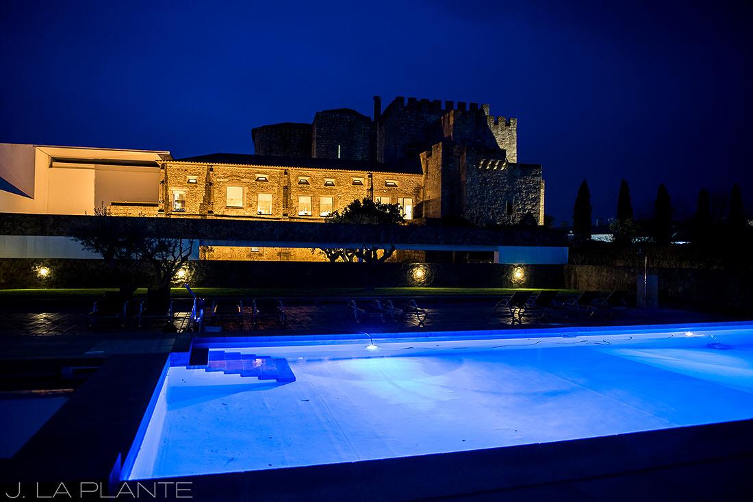 Flor da Rosa and the Pousada Mosteiro Crato swimming pool