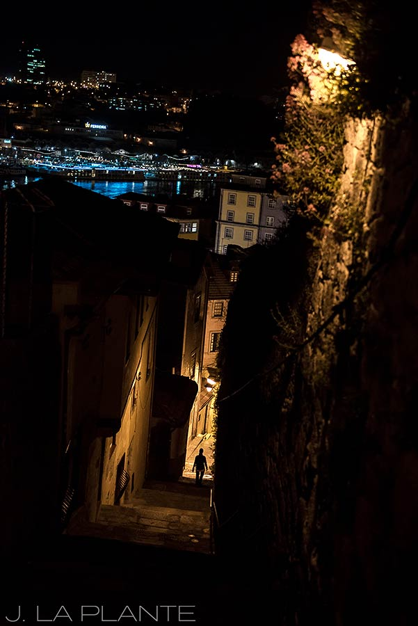 walking the alleys of porto at night