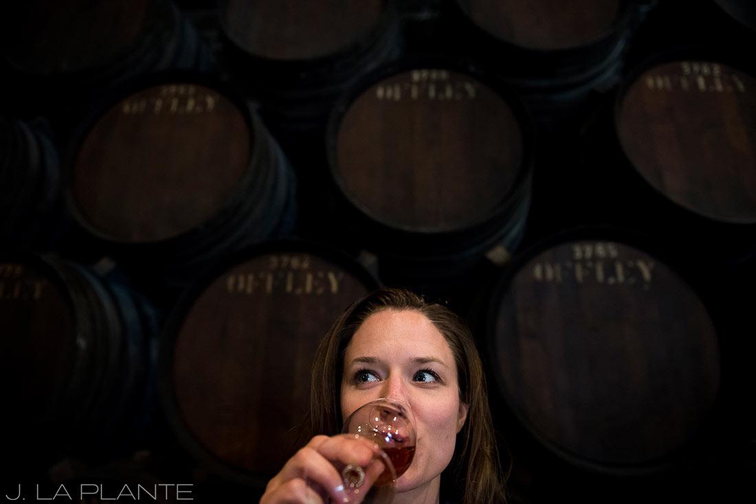 wine tasting in the cellars of porto