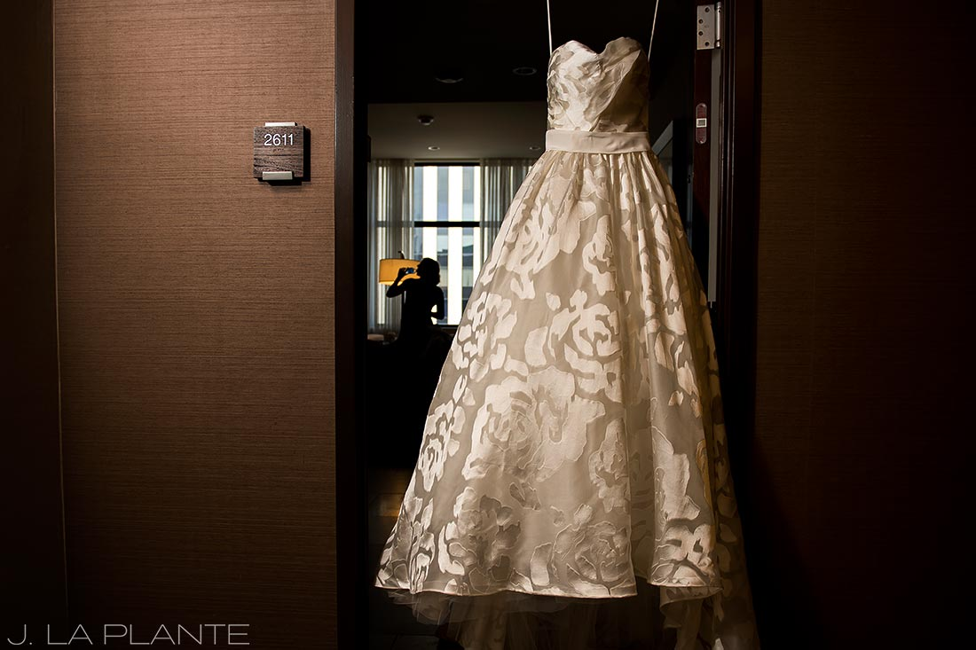 Grand Hyatt Denver Wedding | Wedding gown | Same Sex Wedding Photographer | J La Plante Photo