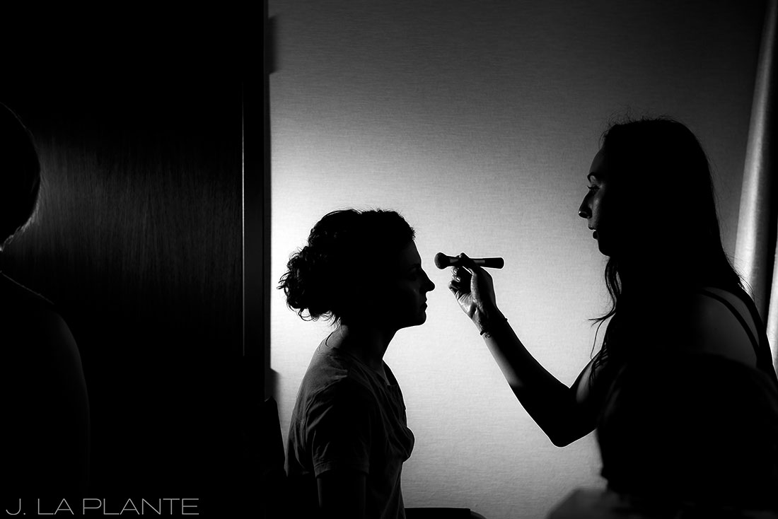 Grand Hyatt Denver Wedding | Bride getting ready | Same Sex Wedding Photographer | J La Plante Photo