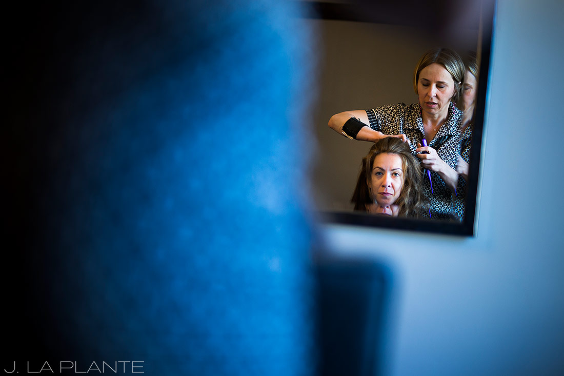 Sonnenalp Wedding | Bride getting ready | Vail wedding photographer | J La Plante Photo